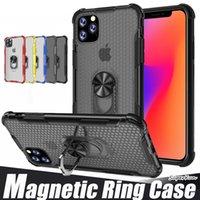 Rotierender Ring 2 in 1 Hybrid-Telefon-Hüllen für iPhone 12 11 PRO MAX XR XS 6 7 8 Plus mit Standhalter