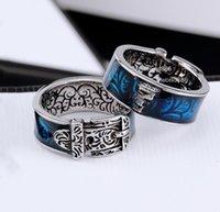 Hip Hop Jewelry Love Ring Ring Retro Sculpture Moda per uomo e donna Anelli 6 colori opzionali con scatola