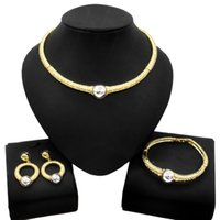 Yulaili New Gold-Plated Necklace Jewelry Set Dubai Wholesale Factory Direct Sales Fashion Exquisite Women Jewellery Sets