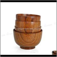 나무 그릇 Tapanese 수프 쌀 국수 그릇 아이들의 도시락 식품 용기에 대 한 키즈 점심 상자 주방 식기 sqcaer av4gc sqpd9
