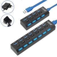 Usb Type C 3.0 Hub With Power Adapter Multi Splitter 7 Port Multiple Expander Switch For PC Laptop Hubs
