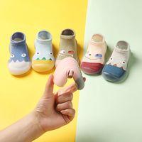 Chaussettes bébé nourrisson avec semelles en caoutchouc bébé bébé bébé filles garçons chaussures d'automne bébé chaussettes étage antidérapant Soft Sole chaussette 1294 Y2