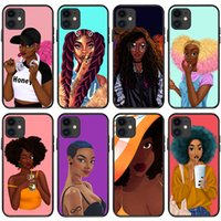Top Grade Designer Black Girl Phone Cases For Iphone 13 13pro 13mini 12 Mini 12pro 11 Pro Max X Xs Xr 8 7 Plus Print Case Cover