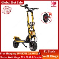 Original Kaabo Wolf Wolf Warior King + 11inch 72V 28AH LG Батарея Верхняя скорость 100 км / ч Электрический скутер с гидравлическим амортизацией