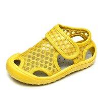Capsella أطفال الصيف الفتيات طفل الفتيان تنفس شاطئ الصنادل طفل مغلق اصبع القدم أحذية الأطفال
