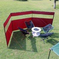 Carpas y refugios 130x440cm Parabrisas al aire libre Multifunción 300D Oxford Paño Pliegue Trail Transparente Camping Picnic Hogire Windroviento Viento
