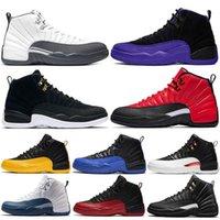 ManBasketballshoes 12s 다크 그레이 국제선 12 등급 2003 미시간 망 농구 신발 UNC Bulls Xii 보르도 스포츠 스니커즈