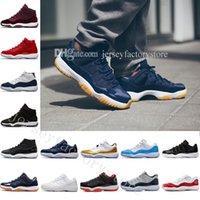 Kutu ayakkabıları ile 11 Spor Red Chicago Midnight Navy Win gibi 82 UNC Uzay Jam 45 Concord 72-10 Erkek Basketbol Ayakkabıları 11s Atletik Spor Sneakers