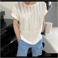 T-shirts bébé bébé, maternité goutte livraison 2021 vêtements à manches courtes enfants enfants coton été t-shirts vêtements garçons filles t-shirts solides tops z31ku