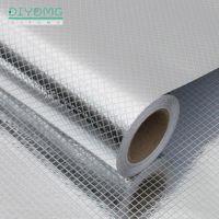 Стены наклейки кухонные нефтяные самоклеющиеся печки анти-загрязнение высокотемпературной алюминиевой фольги обои шкаф фильма контактная бумага