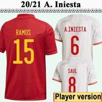 2021 Version du joueur Mens Soccer Jerseys Koke Pedri Morata F. Torres Alba Sarabia Adama Accueil Chemises à manches courtes