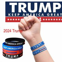 DHL HOTTHT Trump 2024 Pulsera de silicona Black Blue Muñequera Favor de la fiesta CY0022