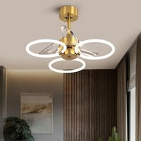 Ceiling Fans Light Luxury Modern Minimalist Invisible Fan Lamp With Electric Dining Room Living Bedroom Chandeliers