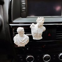 Greek Mythology Art Statue Car Air Freshener King of The Gods Mini Plaster Statue Car Perfume Clip Auto Accessories Interior