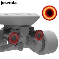 Jusenda Skateboard Avertissement 2pcs XLite100 USB LED LED Auto Frein Sense Cycle Cycle Feux de queue Longboard Scooter électrique Accessoires Skateboardi