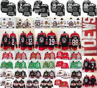 2021 Reverse Retro Chicago Blackhawks 77 Kirby Dach 19 Jonathan Toovs 88 Patrick Kane 2 Keith 7 Brent Seabrook 12 Alex Debrincat Hockey Jerseys