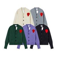 21ss Aw Bayan Knits V Yaka Uzun Kollu Moda Sıcak Üst Açık Çift Rahat Giymek Çeşitli Renk Stilleri Erkek Ceket