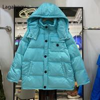 Mulheres para baixo parkas lagabogia 2021 inverno mulheres com capuz espessura quente fêmea solta à prova de vento beber jaqueta 90% branco casaco de pato casaco de neve casaco de neve