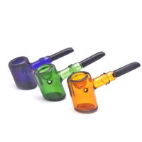 Hand Smoking Pipes Cheap Pyrex Glass Spoon Pipes hammer shape Bowl Unique oil burner Pipe Smoking Pieces
