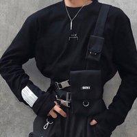 여자 전술 가슴 장비 가방 힙합 트렌드 캔버스 허리 가방 조절 가능한 기능 유니섹스 가방 가방을위한 Streetwear 조끼 가방