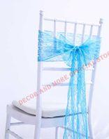 Полиэстер Сплошные кружевные стулы Sashes для наружной свадьбы События EL Cavers Decor Bows Bows Tys Bonds 15x275CM