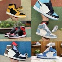 Jumpman University Blue 1 1s High Basketball Shoes Mens Dames Snoep Turbo Groen Bred Patent Unc Pollen Hyper Royal Jordán Chicago Black Teen Dark Mocha Trainer Sneakers
