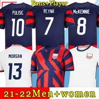 Amerika Birleşik Devletleri Futbol Formaları 2021 McKennie Reyna Pulisic Futbol Forması Yedlin Brooks Dest Ulusal Takım Üniforma Adam Amerika Morgan Gömlek Kadın 4 Yıldız