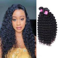 Wholesale Unprocessed Deep Wave Hair 4 Bundles Peruvian Human Hair Extensions Deep Wave Hair Extensions