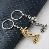 Keychains Car Keychain 3D Metal Snake Emblem Badge Auto Keyring Key Ring Chain For Ford Focus 2 3 Mustang Shelby GT