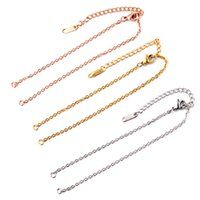 5pcs lot Stainless Steel Width 2mm Adjustable Cuba Chain for Jewelry Making DIY Connector Charm Pendants Bracelets Anklet