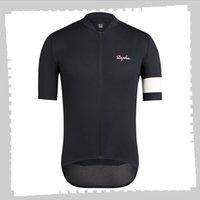 Pro equipe Rapha Ciclismo Jersey Mens Verão Quick Seco Seco Uniforme Mountain Bike Camisas de bicicleta de estrada Tops Roupas de corrida ao ar livre Sportswear Y21041296