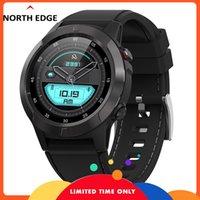 حر الشمال الحافة gps ذكي مشاهدة الرجال تشغيل عداد الخطى smartwatch الرياضة القلب معدل ضغط الدم بلوتوث altmeter ساعة البوصلة