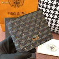 Designer de luxo Mens Carteira Faure Le Page Carteiras Curtas Couro De Couro Masculino Homens Bolsa Anti-Theft Cartão Titular Homens Presentes