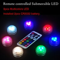 2021 Remote controlled submersible LED Swimming Pool Light diamond light waterproof candle lamp remote light 3LED