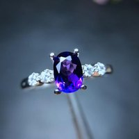 Cluster Rings MeiBaPJ Natural Amethyst Gemstone Fashion Ring For Women Real 925 Sterling Silver Fine Jewelry