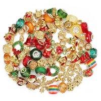 Christmas Charms Matels Loose Beads 60PCS Wholesale Accessories Fits Pandora DIY Jewelry European 3MM Bracelets Bangles Women Girls Gifts B027