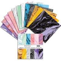 6 '12/24 Hoja Colorido Patrón de mármol Scrapbook Origami Fondo Papel DIY PO Tarjeta Haciendo Home Deco Regalo Artes Artesanía Otros y