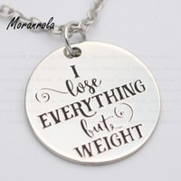 """Pendant Necklaces Arried""""I Lose Everything But Weight """" Copper Necklace Keychain,charm Hand Stamped Jewelry Love Hate Body Feeling Gift"""