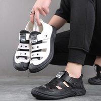 Сандалии WOTTE Microfiber Мужчины Мода Дышащие Мужские Квартиры Удобные Мужские Пляжные Тапочки Человек Повседневная Обувь Сандалиас Хомбр