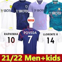 21 22 LEEDS Home Away 3rd Soccer Jerseys 2021 2022 Firpo Junior Harrison Hernandez Costa Bamford Phillips Raphinha Hommes Kits Kids Kits Football Shirt United