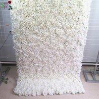 Dekorative Blumen Kränze SPR rollen Tuch Blume Wand 8ft * 8ft künstliche Wedding Gelegenheit Kulisse Anordnung Dekorationen