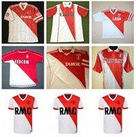 1977 1982 94 95 96 97 Retro Versão Monaco Tuybens Futebol Jerseys 90 91 92 1999-2000 Home Dalger Vintage 96-97 como Ben Yedder Jovetic Golovin flocagem Jorge Football Shirt