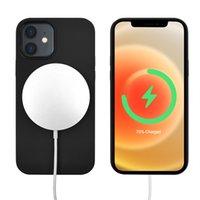 Cep telefonu kılıfları manyetik sıvı silikon koruyucu film iPhone 12 için uygun