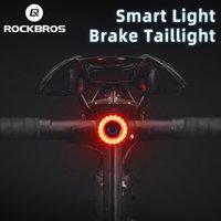 RockBros Велосипедные задние фонари MTB Road Bike Ночные Задние фонари Смарт Тормозные Датчик Датчик Предупреждение Водонепроницаемые Велосипеды Аксессуары