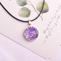 Pendant Necklaces Plant Ornament Dried Flowers Glass Necklace&Pendant Handmade Summer Jewelry Real Flower