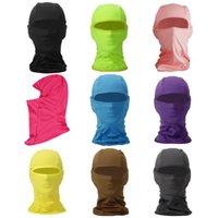 Bandana / gorra multifuncional para la máscara de la cara de la capucha de la bicicleta Resistente a la alta calidad al viento y el deporte UV, el exterior, la máscara de gorras de ciclismo negro-negro