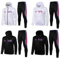 psg bianco Paris felpe giacca di calcio 18-19-20-21 giacca da golf tuta da calcio 2019-2020-21 nera Surv234;tement psg X felfie