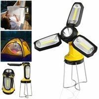 COB Portable Linterna Lámpara Tienda de Tienda USB Recargable Ultra Brillante LED Línea Ligernas Linterna Luz Para El Camping De Senderismo Trabajo