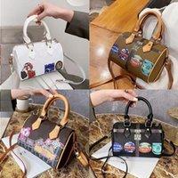 العلامة التجارية أكياس وسادة مصممين lasies السيدات السريعة القديمة زهرة كتابات المرأة حقيبة الشهيرة بوسطن crossbody 6vkb الأزياء نانو الكتف هكتار gcgu