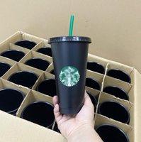 DHL Starbucks Caneca 24oz Tumblers Copos de plástico bebendo suco com lábio e palha caneca caneca de café feita sob encomenda Cup Durian Durian Durian Durian Presente